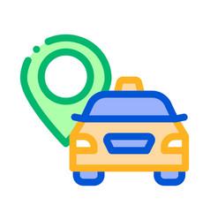taxi destination icon vector image