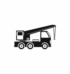 Truck mounted crane icon simple style vector