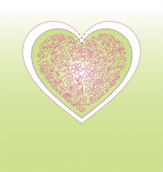 valentine greetings vector image