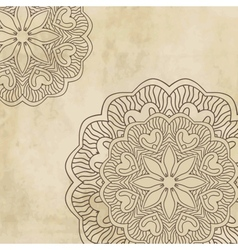 Vintage background with bright colors mandala vector image