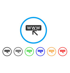 Website address rounded icon vector