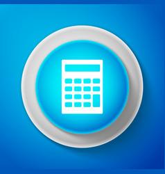 white calculator icon accounting symbol vector image