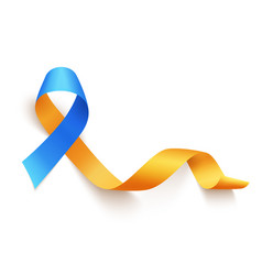world down syndrome day march 21 realistic blue vector image