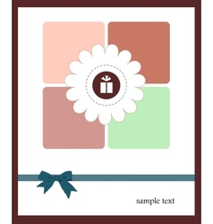 A nice card for your holiday vector image vector image