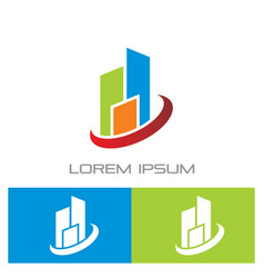 business building contruction logo vector image