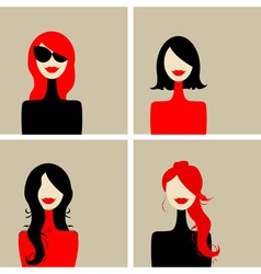 fashion woman portrait vector image