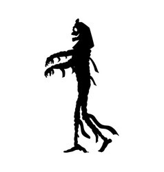 mummy halloween silhouette scary monster fantasy vector image