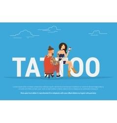 Tattoo addiction concept design vector image vector image