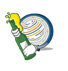 With beer factom coin mascot cartoon vector