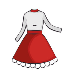 woman dress fashion vector image vector image