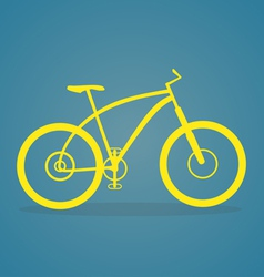 Yellow Bike Icon vector image