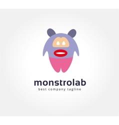 Abstract cartoon monster logo icon concept vector image vector image
