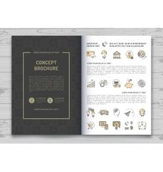 Business brochure design template Elegant brand vector image vector image