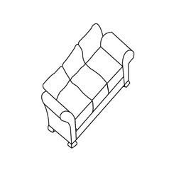 Isolated modern sofa vector image vector image