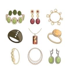Jewelry icon set vector image vector image