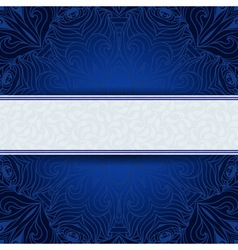 Blue invitation card with place for your text vector image