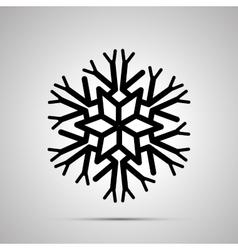 Complicated snowflake simple black icon vector