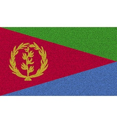 Flags Eritrea on denim texture vector image vector image