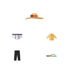 flat icon garment set of banyan pants vector image
