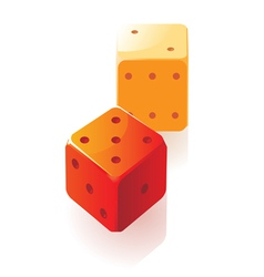 Isometric icon of dice vector image vector image