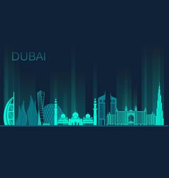 dubai city stock vector image
