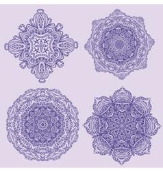 lacy arabesque designs vector image vector image