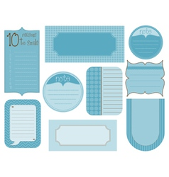 set of design elements - vintage frames and tags vector image