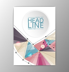 A4 Abstract Brochure Background design Business vector image