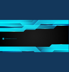 Abstract layout modern technology design banner vector