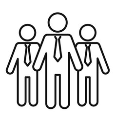 Admin group icon outline style vector