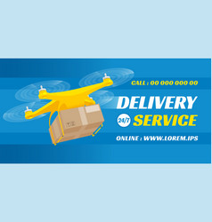 aerial delivery drone vector image
