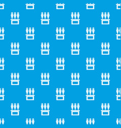 antique jugs pattern seamless blue vector image