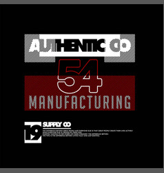 Authentic co 54 manufacturing supply co vintage vector