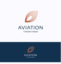 Aviation logo vector