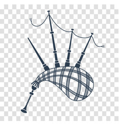 Bagpipes icon black vector