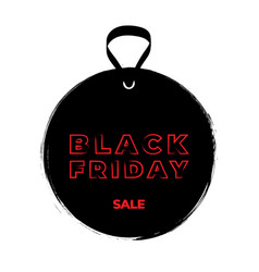 black friday grunge tag and text on white black vector image