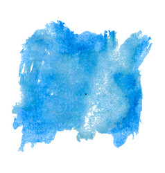 Blot template blue watercolor vector