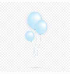 blue transparent with confetti helium balloon vector image