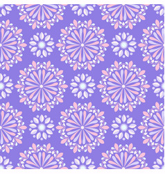 Bright mandala pattern in purple and coral vector