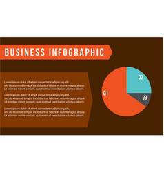 Business infographic with diagram concept vector
