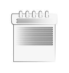 calendar schedule symbol vector image