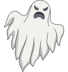 cartoon scary ghost vector image