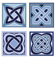 celtic knots set of icons vector image