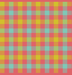 check tablecloth seamless pattern vector image