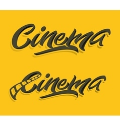 Cinema lettering print vector
