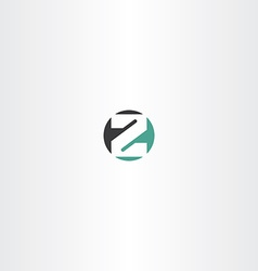circle letter z or number 2 two icon vector image