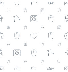 colorful icons pattern seamless white background vector image