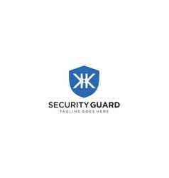 Creative shield for security logo design vector