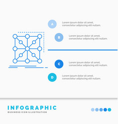 Data framework app cluster complex infographics vector