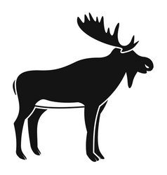 deer icon simple style vector image